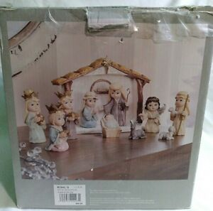 Kohl's St Nicholas Square 11 Piece Resin Angels and Nativity Set RN#73277