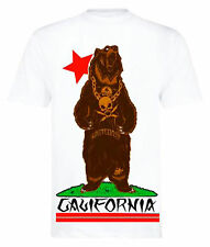 FATAL CLOTHING [CALI BEAR] T-SHIRT ROCKABILLY OLDSCHOOL EMO CALIFORNIA ROCKER  F