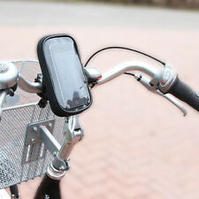 Fahrrad Lenker Smartphone Handy Navi Tasche Halterung Halter Regenschutz 360°