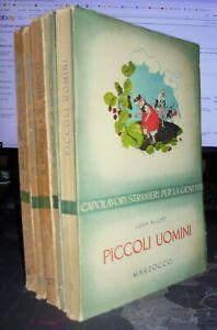Lotto di 5 Libri illustrati per ragazzi / bambini : ALCOTT TWAIN MELVILLE RASPE