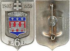 6° Régiment d'Infanterie, 1803 - 1939, émail, Fraisse Demey Déposé, (5296)