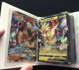 Mini 1 Pocket Binder Collection of 24 V VMax EX GX Pokemon Cards Lot