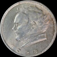 1928 Austria 2 Shilling KM#2843 Centennial Death of Franz Schubert, World Silver