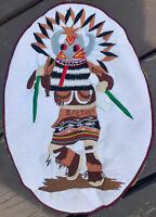 LARGE VINTAGE PATCH KACHINA STAR Navajo Art Stitched