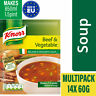14x Knorr Beef and Vegetable Soup 60G - 2.12Oz.- Ireland's Favourite Soup
