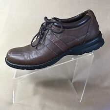 Dockers ProStyle Shoes Men's 10 M Brown Leather Lace Up Oxford Casual Stitch