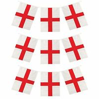 6m World Cup Cricket Rugby England St George's Day Flag Bunting 12 Flags