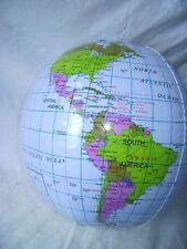 "NEW INFLATABLE GLOBE MAP BALL 30cm 12"" OUTSIDE GARDEN FUN :-)"