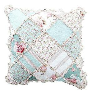 DaDa Bedding Cottage Mint Floral Pastel Cotton Patchwork Bedspread Quilt Set