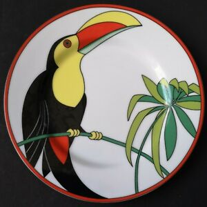 Fitz and Floyd Vibrant Picture Toucan Bird Plate Tropical Theme