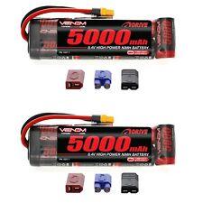 Venom 8.4V 5000mAh 7 Celdas NiMH Batería plana con paquetes de x2 Sistema Universal Plug