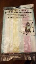 AMERICAN GREETINGS SUPER JUMBO PASTEL PLASTIC GIFT BAG
