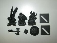 Warhammer Fantasy Dwarf King Alrik on Shieldbearers metal OOP