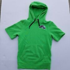 Nike Air Short Sleeve Hoodie Green XS Extra Small