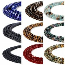 6mm 8mm10mm Natural Stone Gemstone Round  Loose Energy Beads For Jewelry Making