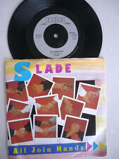 SLADE = ALL JOIN HANDS / HERE'S TO... PICTURE SLEEVE RCA 1984 EXCELLENT VINYL