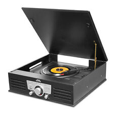 Pyle PTT25UBT Bluetooth Vintage Portable Record player with USB-SD Recording