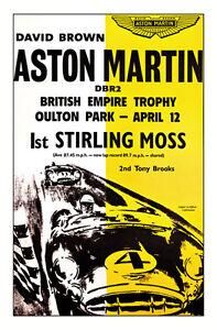 Aston Martin/Moss Race Poster Print
