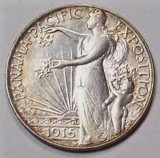 1915-S PANAMA PACIFIC EXPO Commemorative HALF DOLLAR ~ Choice AU ~Free U.S. Ship
