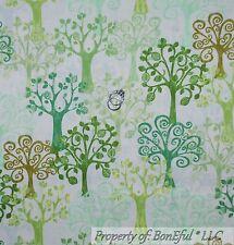 BonEful Fabric FQ Cotton Quilt Green Tree Leaf Branch Fantasy Forest Vegetable