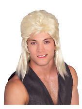 Mens 80's Brown Mullet Wig Jason Donovan Classic Fancy Dress Costume Accessory