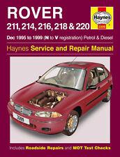 Haynes Taller reparación Manual del propietario Rover 211 214 216 218 220 95 - 99 N A V