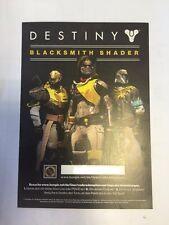 Destiny Blacksmith Shader Works On Playstation and Xbox (Worldwide Shipping!!)
