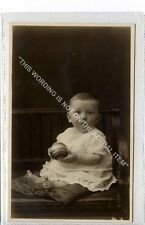 (Ga8509-477) Real Photo of Baby with Toy, Buckley, Bury Photographer c1920 EX