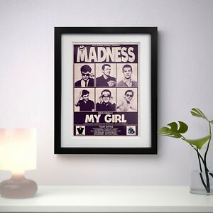 Madness 1979 Early Concert Three Print Options or Framed Poster EXCLUSIVE
