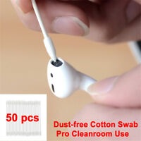 50pcs Charging Port Cotton Disposable Stick Cleanroon Use Cleaning Swab Tool NEW