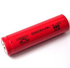 1 x 4,2 V Lithium Ionen Akku Modell 18650 Li - ion Größe 66 x 18 mm red