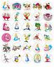 ALICE IN WONDERLAND EDIBLE WAFER CUPCAKE FAIRY CAKE TOPPERS DECORATIONS x 30
