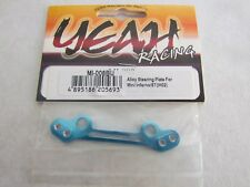 Kyosho Mini Inferno/ST, Alloy Steering Plate IH02 (Yeah Racing/Blue). NIP