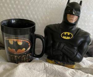 Vintage DC Comics: Batman Coffee Mug And Bank.
