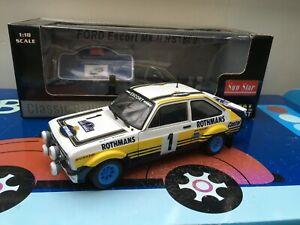 Sunstar 1/18th 4441 Ford Escort MK2 RS 1800 1979 Rally Acropolis Winning Car