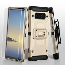 SAMSUNG GALAXY NOTE 8 GOLD KINETIC ARMOR HEAVY DUTY HYBRID CASE COVER+