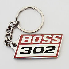 BOSS 302 Keyring Key Ring , RED , Chrome, Brand New, suit Mustang Ford pony Fans