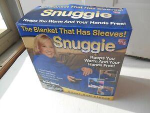 SNUGGIE ORIGINAL THE BLANKET THAT HAS SLEEVES AS SEEN ON TV BLUE SOFT FLEECE