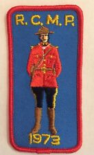 """Vintage """"RCMP 1973""""patch / Crest sew on/glue on 2""""x 4"""" Inch"""