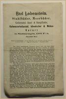 Orig. Prospekt Bad Lobenstein um 1880 Reise Ortskunde Geografie Geographie sf