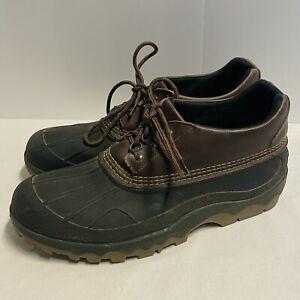 LL Bean USA Mens Sz 13 M Low Duck Bean Shoes Rubber Leather Moccasins Rain Boots