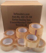 72 Rolls Carton Sealing Clear Packingshippingbox Tape 25 Mil 2 X 110 Yards