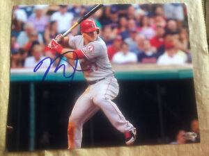 Mike Trout LA Angels Signed Autographed 8x10 Photo COA
