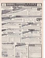 1966 Klein Sporting Goods Ad/ M-1 Carbine Garand Mauser Enfield 30/06