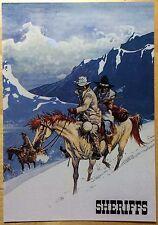 COMANCHE Les Shériffs Carte postale Hermann CP n°41 1984 État neuf
