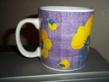 Sakura Purple Yellow Flower Floral Coffee Cup Mug Four Seasons