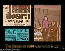 THE DOORS JIM MORRISON DETROIT CONCERT MEMORABILIA DISPLAY TICKET STUB PHOTO AD