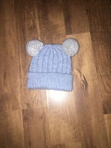 Boys Blue Knitted Bobble Hat By UGG Age 6-12 Months