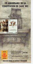 España 175 Aniversario Constitución de Cadiz 1812 año 1987 (DP-275)