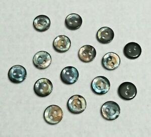 10pc 11mm 18L Black Blue Brown Pearl Shell Effect Shirt Suit Cardigan Buttons